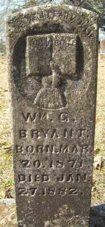 BRYANT, WILLIAM G. - Faulkner County, Arkansas | WILLIAM G. BRYANT - Arkansas Gravestone Photos