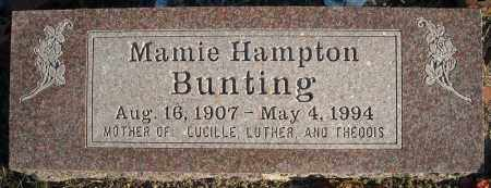 HAMPTON BUNTING, MAMIE - Faulkner County, Arkansas | MAMIE HAMPTON BUNTING - Arkansas Gravestone Photos
