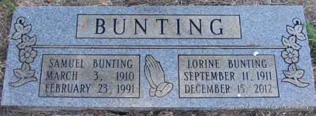 BUNTING, SAMUEL - Faulkner County, Arkansas | SAMUEL BUNTING - Arkansas Gravestone Photos