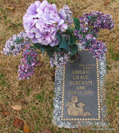 BURCHAM  (INFANT SECT #2), ABIGAIL GRACE - Faulkner County, Arkansas | ABIGAIL GRACE BURCHAM  (INFANT SECT #2) - Arkansas Gravestone Photos