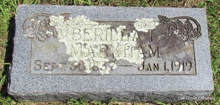 BLAND BERILLA T., MARKHAM - Faulkner County, Arkansas | MARKHAM BLAND BERILLA T. - Arkansas Gravestone Photos