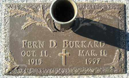 BURKARD, FERN D. - Faulkner County, Arkansas | FERN D. BURKARD - Arkansas Gravestone Photos