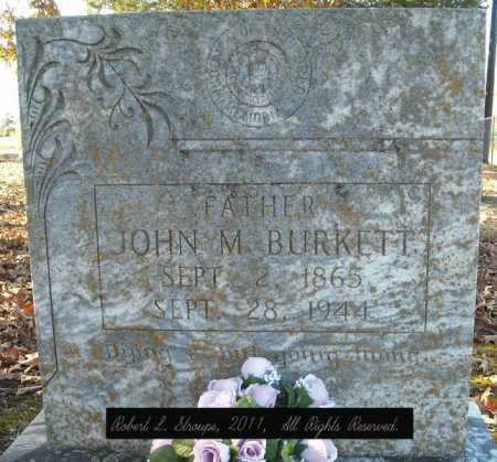 BURKETT, JOHN M. - Faulkner County, Arkansas | JOHN M. BURKETT - Arkansas Gravestone Photos