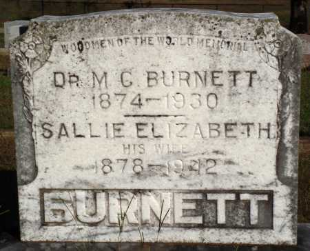 BURNETT, SALLIE ELIZABETH - Faulkner County, Arkansas | SALLIE ELIZABETH BURNETT - Arkansas Gravestone Photos