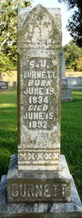 BURNETT, S. U. - Faulkner County, Arkansas | S. U. BURNETT - Arkansas Gravestone Photos