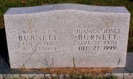 JONES BURNETT, JUANITA - Faulkner County, Arkansas | JUANITA JONES BURNETT - Arkansas Gravestone Photos