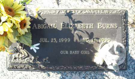 BURNS, ABIGAIL ELIZABETH - Faulkner County, Arkansas | ABIGAIL ELIZABETH BURNS - Arkansas Gravestone Photos