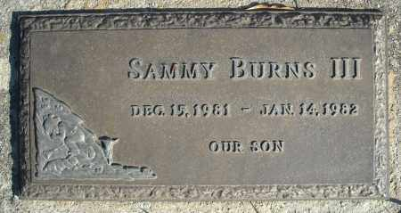 BURNS, III, SAMMY - Faulkner County, Arkansas | SAMMY BURNS, III - Arkansas Gravestone Photos