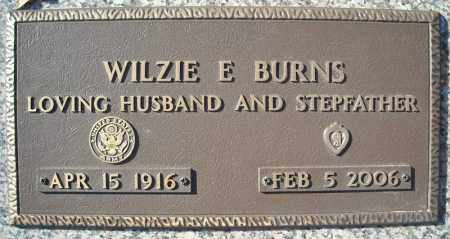 BURNS (VETERAN), WILZIE E - Faulkner County, Arkansas | WILZIE E BURNS (VETERAN) - Arkansas Gravestone Photos