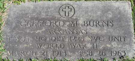 BURNS (VETERAN WWII), CLIFFORD M - Faulkner County, Arkansas | CLIFFORD M BURNS (VETERAN WWII) - Arkansas Gravestone Photos