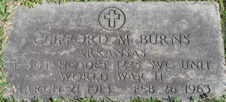 BURNS (VETERAN WWII), CLIFFORD M - Faulkner County, Arkansas | CLIFFORD M BURNS (VETERAN WWII) - Arkansas Gravestone Photos