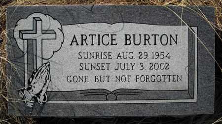 BURTON, ARTICE - Faulkner County, Arkansas | ARTICE BURTON - Arkansas Gravestone Photos