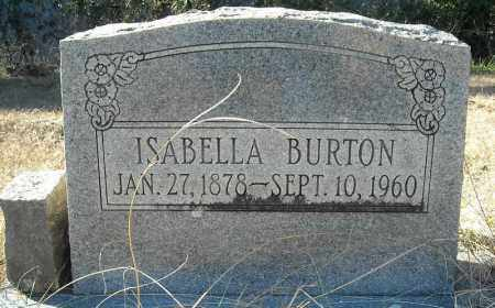 BURTON, ISABELLA - Faulkner County, Arkansas | ISABELLA BURTON - Arkansas Gravestone Photos