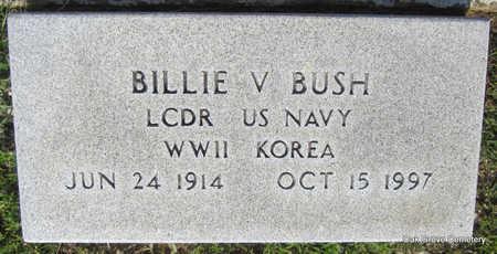 BUSH  (VETERAN 2 WARS), BILLIE V. - Faulkner County, Arkansas | BILLIE V. BUSH  (VETERAN 2 WARS) - Arkansas Gravestone Photos