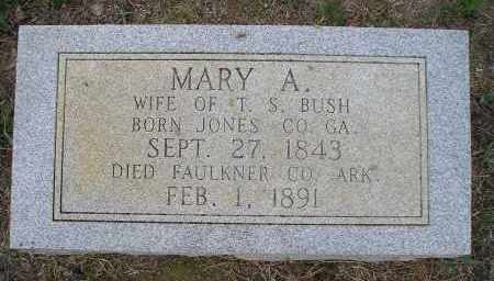 BUSH, MARY A. - Faulkner County, Arkansas | MARY A. BUSH - Arkansas Gravestone Photos