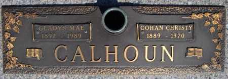 CALHOUN, COHAN CHRISTY - Faulkner County, Arkansas | COHAN CHRISTY CALHOUN - Arkansas Gravestone Photos