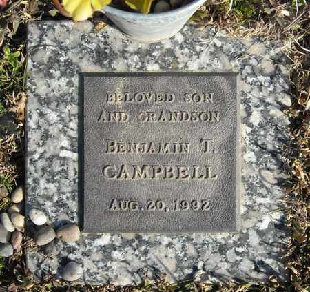 CAMPBELL, BENJAMIN T. - Faulkner County, Arkansas | BENJAMIN T. CAMPBELL - Arkansas Gravestone Photos