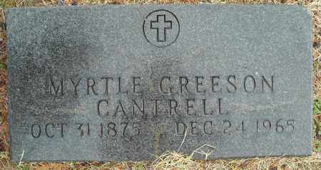 GREESON CANTRELL, MYRTLE - Faulkner County, Arkansas | MYRTLE GREESON CANTRELL - Arkansas Gravestone Photos