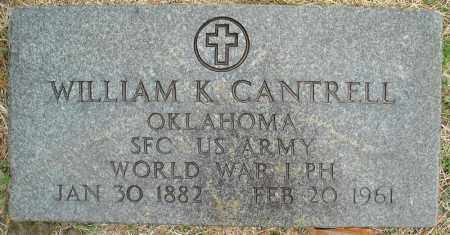 CANTRELL (VETERAN WWI), WILLIAM K - Faulkner County, Arkansas | WILLIAM K CANTRELL (VETERAN WWI) - Arkansas Gravestone Photos