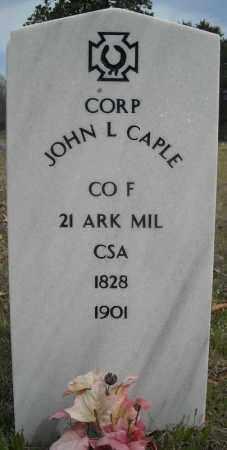 CAPLE (VETERAN CSA), JOHN L - Faulkner County, Arkansas | JOHN L CAPLE (VETERAN CSA) - Arkansas Gravestone Photos