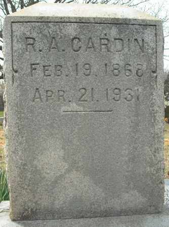 CARDIN, R.A. - Faulkner County, Arkansas | R.A. CARDIN - Arkansas Gravestone Photos