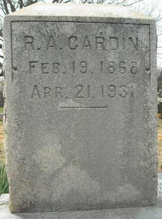 CARDIN, REUBEN ANDERSON - Faulkner County, Arkansas | REUBEN ANDERSON CARDIN - Arkansas Gravestone Photos