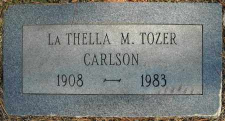TOZER CARLSON, LA THELLA M. - Faulkner County, Arkansas | LA THELLA M. TOZER CARLSON - Arkansas Gravestone Photos