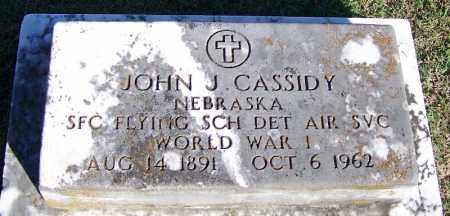 CASSIDY (VETERAN WWI), JOHN J - Faulkner County, Arkansas | JOHN J CASSIDY (VETERAN WWI) - Arkansas Gravestone Photos