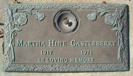 HINE CASTLEBERRY, MARTHA - Faulkner County, Arkansas | MARTHA HINE CASTLEBERRY - Arkansas Gravestone Photos
