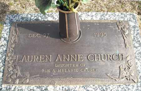 CHURCH, LAUREN ANNE - Faulkner County, Arkansas | LAUREN ANNE CHURCH - Arkansas Gravestone Photos
