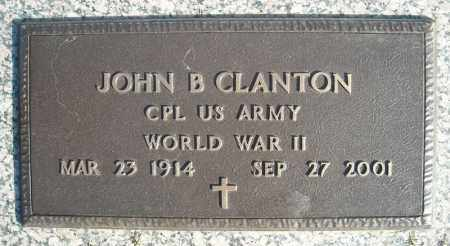 CLANTON (VETERAN WWII), JOHN B - Faulkner County, Arkansas | JOHN B CLANTON (VETERAN WWII) - Arkansas Gravestone Photos