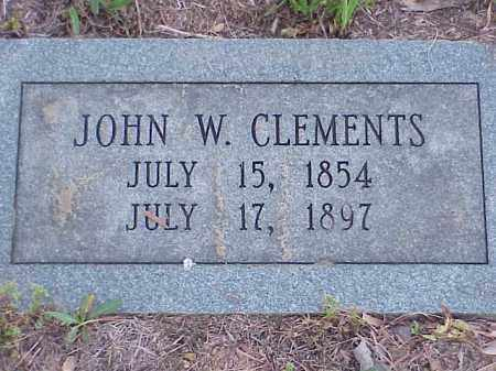 CLEMENTS, JOHN W. - Faulkner County, Arkansas | JOHN W. CLEMENTS - Arkansas Gravestone Photos