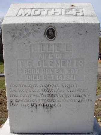 CLEMENTS, LILLIE E. - Faulkner County, Arkansas | LILLIE E. CLEMENTS - Arkansas Gravestone Photos