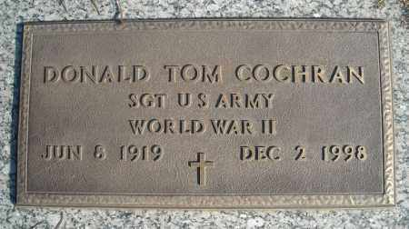 COCHRAN (VETERAN WWII), DONALD TOM - Faulkner County, Arkansas | DONALD TOM COCHRAN (VETERAN WWII) - Arkansas Gravestone Photos