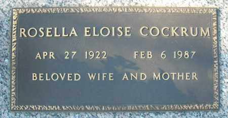 COCKRUM, ROSELLA ELOISE - Faulkner County, Arkansas | ROSELLA ELOISE COCKRUM - Arkansas Gravestone Photos