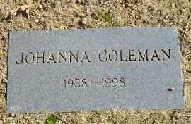 COLEMAN, JOHANNA - Faulkner County, Arkansas | JOHANNA COLEMAN - Arkansas Gravestone Photos