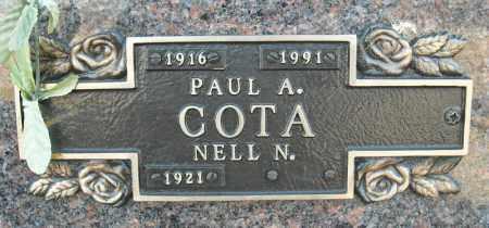 COTA, PAUL A. - Faulkner County, Arkansas | PAUL A. COTA - Arkansas Gravestone Photos
