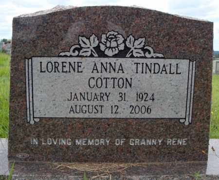 COTTON, LORENE ANNA - Faulkner County, Arkansas | LORENE ANNA COTTON - Arkansas Gravestone Photos