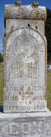 COX, SALLIE A. - Faulkner County, Arkansas | SALLIE A. COX - Arkansas Gravestone Photos