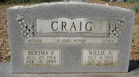 CRAIG, BERTHA F. - Faulkner County, Arkansas | BERTHA F. CRAIG - Arkansas Gravestone Photos