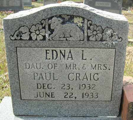 CRAIG, EDNA L. - Faulkner County, Arkansas | EDNA L. CRAIG - Arkansas Gravestone Photos