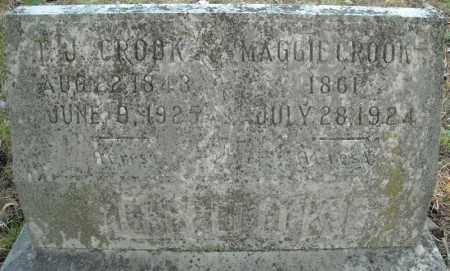CROOK, MAGGIE - Faulkner County, Arkansas | MAGGIE CROOK - Arkansas Gravestone Photos