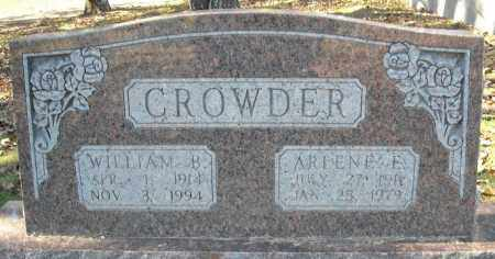 CROWDER, WILLIAM B. - Faulkner County, Arkansas | WILLIAM B. CROWDER - Arkansas Gravestone Photos