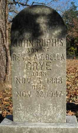 CRYE, JOHN RUPHIS - Faulkner County, Arkansas | JOHN RUPHIS CRYE - Arkansas Gravestone Photos