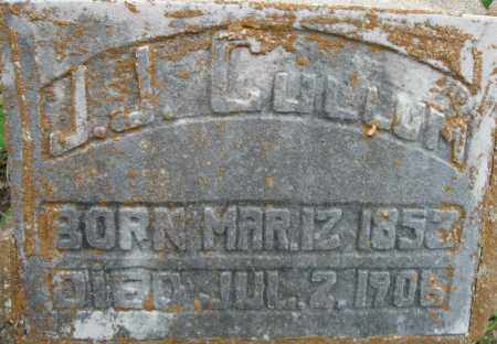 CULLUM, J.J.  (CLOSE UP) - Faulkner County, Arkansas | J.J.  (CLOSE UP) CULLUM - Arkansas Gravestone Photos