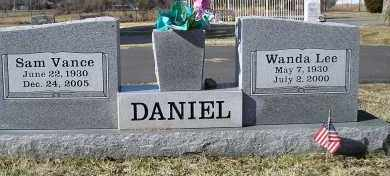 DANIEL, SAM VANCE - Faulkner County, Arkansas | SAM VANCE DANIEL - Arkansas Gravestone Photos
