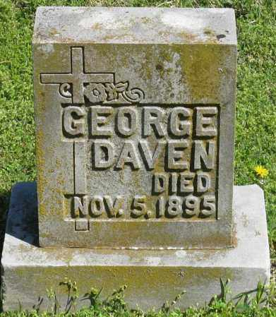 DAVEN, GEORGE - Faulkner County, Arkansas | GEORGE DAVEN - Arkansas Gravestone Photos