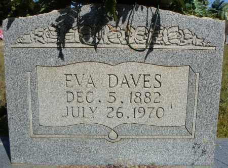 DAVES, EVA - Faulkner County, Arkansas | EVA DAVES - Arkansas Gravestone Photos