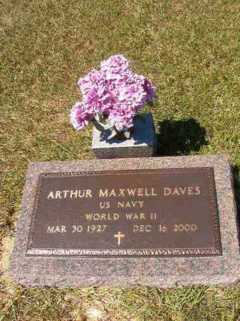 DAVES (VETERAN WWII), ARTHUR MAXWELL - Faulkner County, Arkansas | ARTHUR MAXWELL DAVES (VETERAN WWII) - Arkansas Gravestone Photos