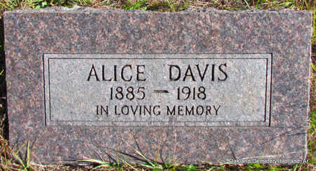 DAVIS, ALICE - Faulkner County, Arkansas | ALICE DAVIS - Arkansas Gravestone Photos